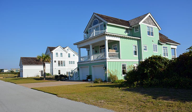 Beachfront homes in Atlantic Beach, NC
