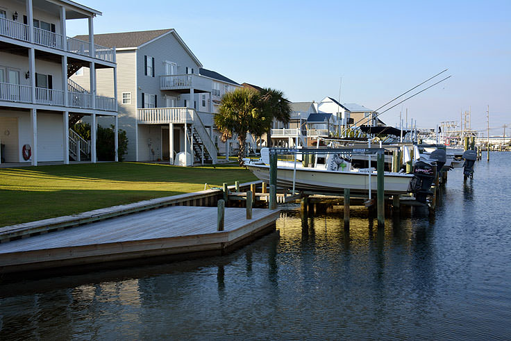 Waterfront homes in Atlantic Beach, NC