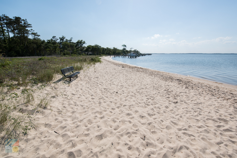 The beach on Harkers Island
