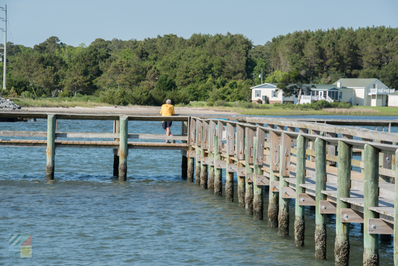 A fishing pier on Harkers Island