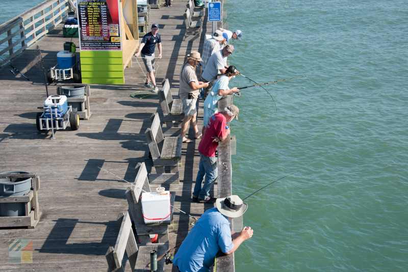 Fishing from Bogue Inlet pier