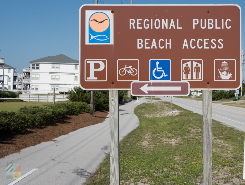 Many public beach accesses in Emerald Isle, NC