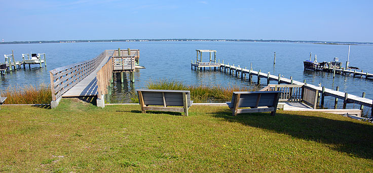 Waterfront view in Emerald Isle, NC