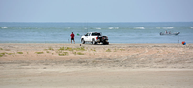 4x4 beach fishing in Emerald Isle, NC