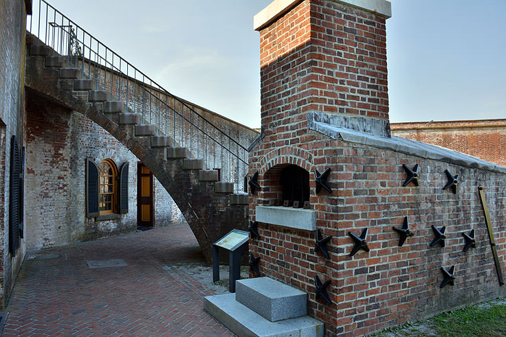 Exhibits at Fort Macon State Park