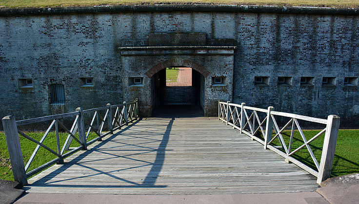Entrance to Exhibits at Fort Macon