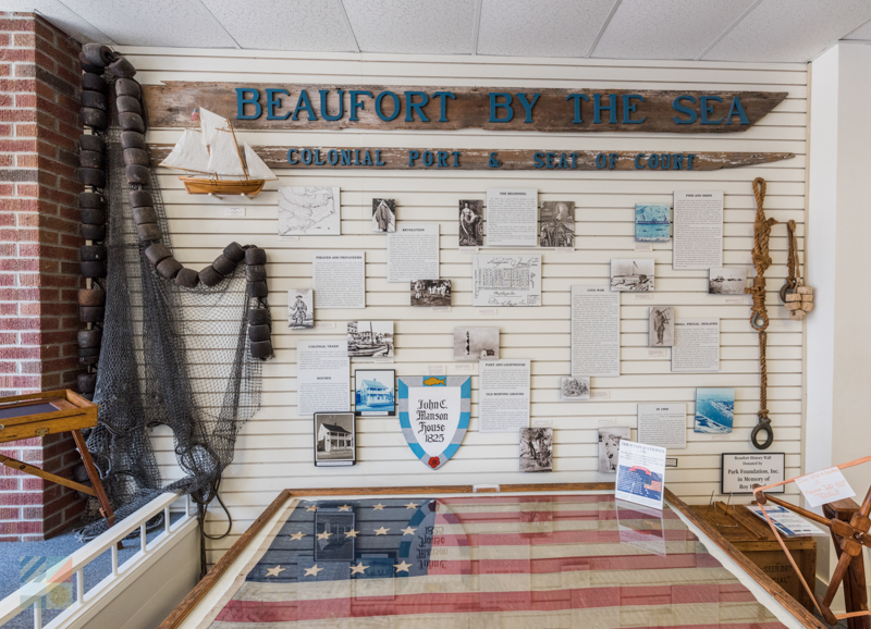 A display at the Beaufort Historic Site