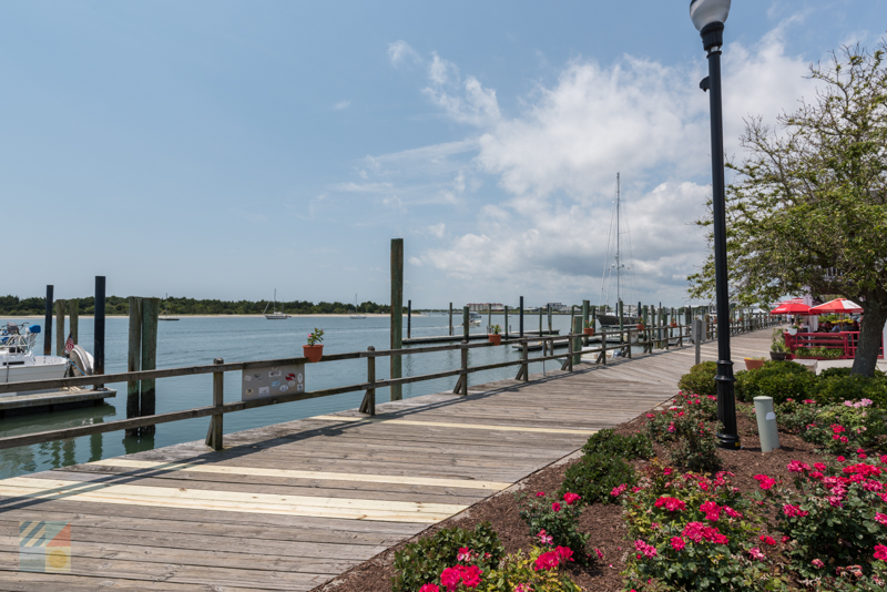See the boats and shop on Front Street in Beaufort