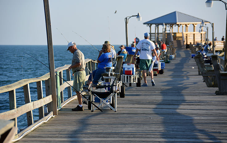 Fishing from Oceanana Pier