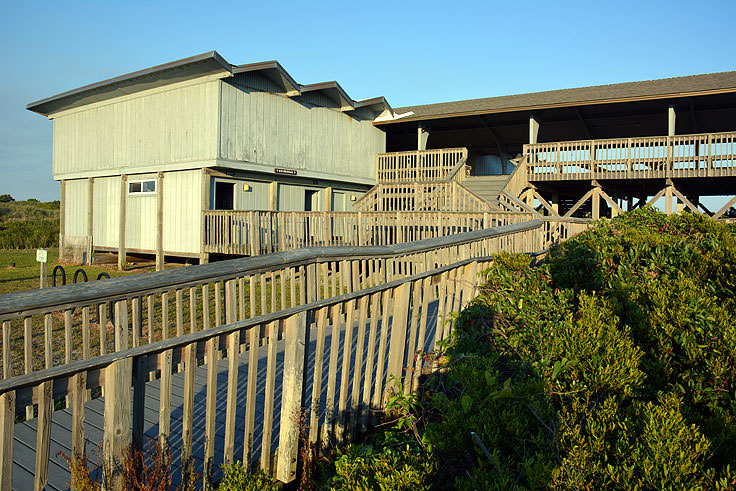 Visitor center at Picnic Park, Atlantic Beach, NC