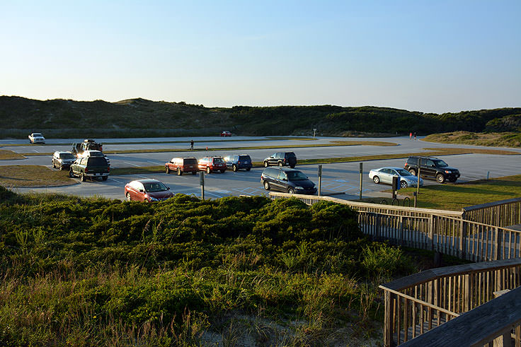 Lots of parking at Picnic Park, Atlantic Beach, NC