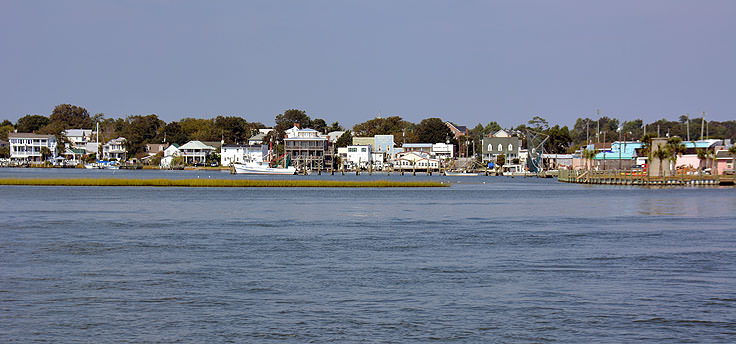 A view of downtown Swansboro, NC