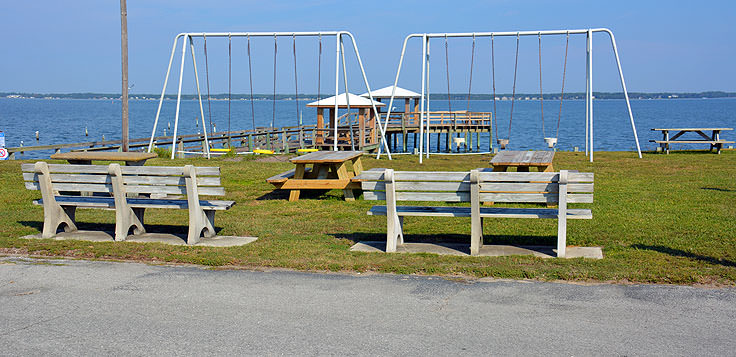 A park at Indian Beach, NC
