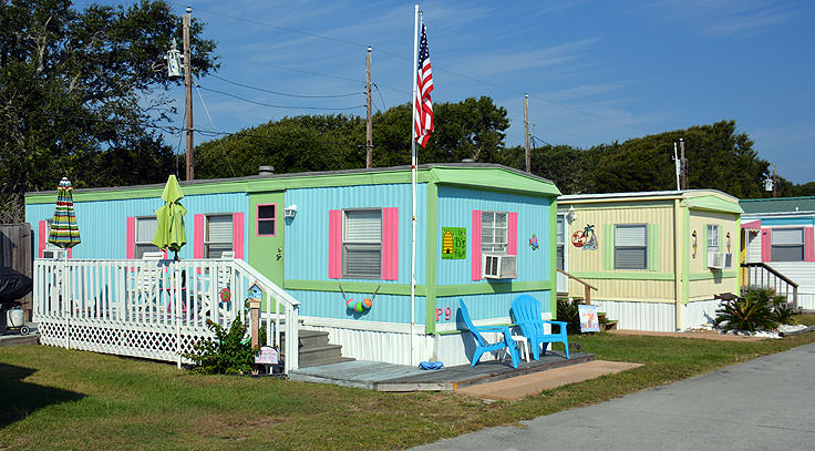 Colorful homes in Indian Beach, NC