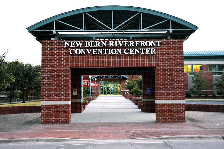 Entrance to the New Bern Convention Center