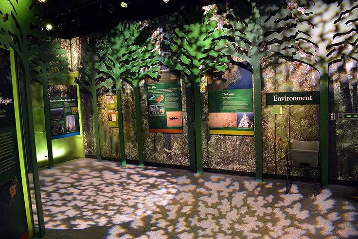 Environmental exhibits in the North Carolina History Center