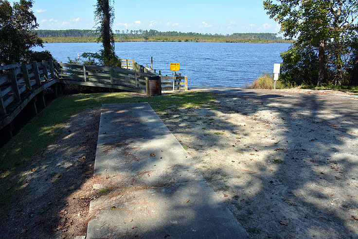 Public boat ramp at Cahooque Creek Recreational Area