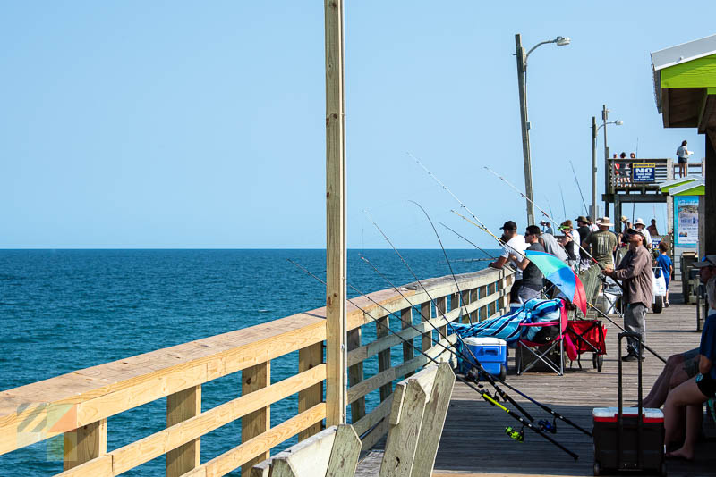 Fishing from the pier